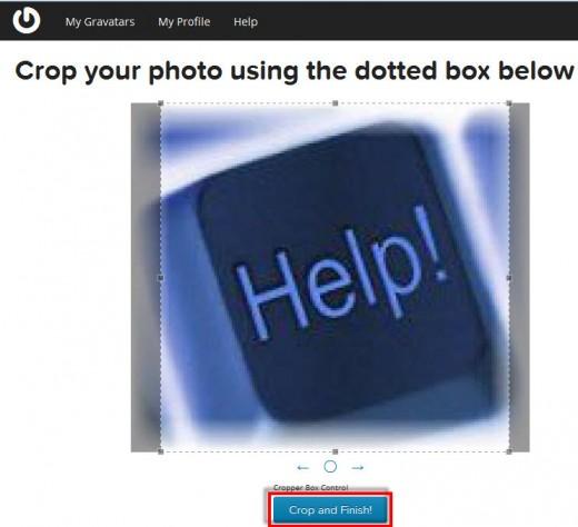 Gravatar.com crop an image