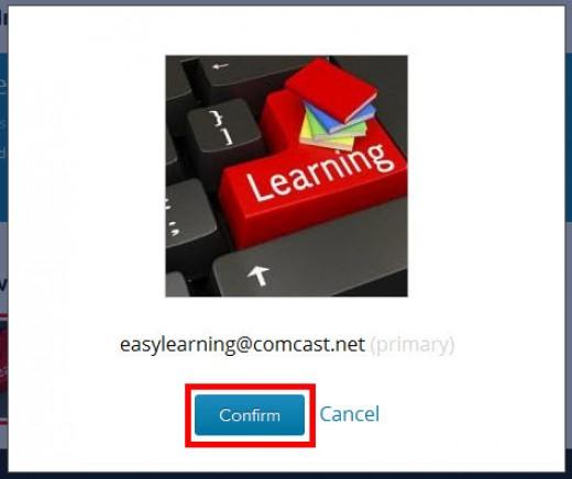 Gravatar.com confirm image