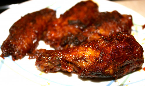Chicken Wings with Honey Barbecue Glaze