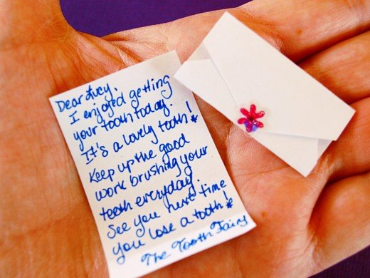 Tiny letters for tiny teeth from the tiny tooth fairy!