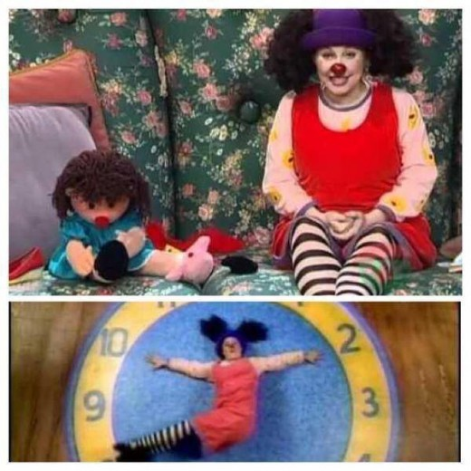 "Molly and Dolly from ""The Big Comfy Couch."""