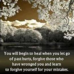 I must forgive myself.
