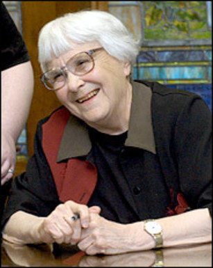 Harper Lee at a rare book signing in January 2006
