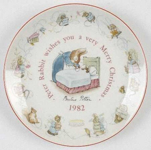 Another verion of the Peter Rabbit Christmas plate