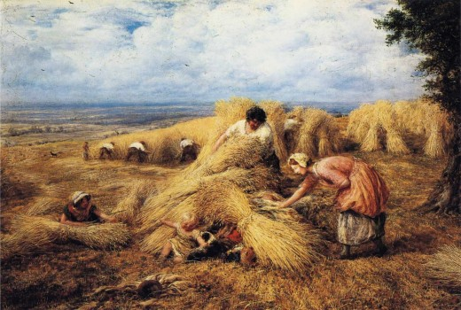 The Harvest Cradle by John Linnell, 1859