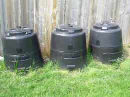 Our backyard bins - no mess, no smell.