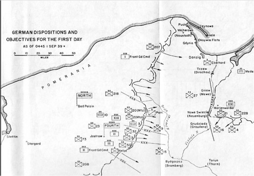 Fourth Army dispositions and objectives for the first day.