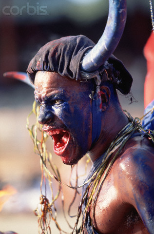 Some cultures see fire-eaters as one way to rid their villages of evil spirits