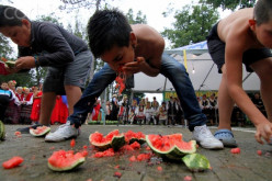 A popular food that most competitive-eaters love in the summer time is watermelon