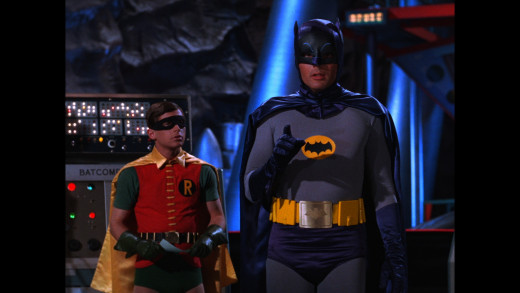 The Caped Crusader and Boy Wonder (Adam West and Burt Ward)