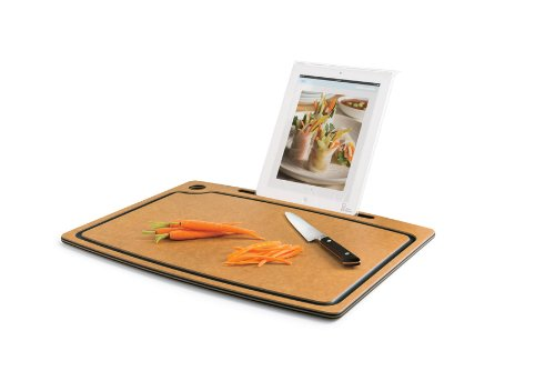 The Orange Chef Cutting Board with iPad Stand, Black