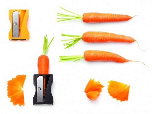 Monkey Business Karoto Sharpener & Peeler - Orange (Black)