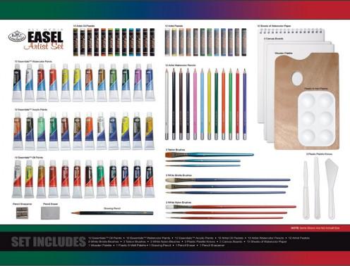 Royal & Langnickel 104-Piece All Media Easel Artist Set