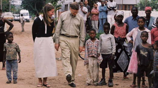 Bill and Melinda Gates: First Visit to Africa. September 2003 in Mozambique