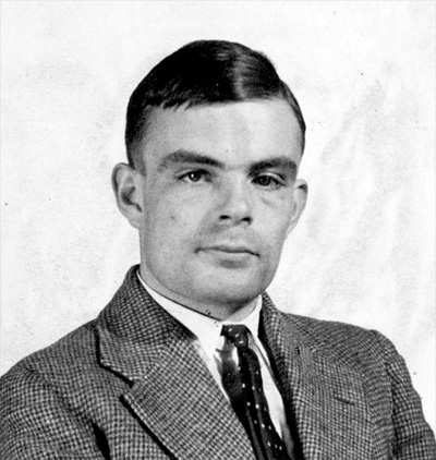 Turing's admission photo at Princeton
