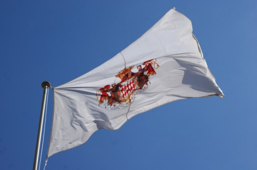 The Flag of Monaco Flew High and Proud on Prince Albert's and Charlene's Royal Wedding.
