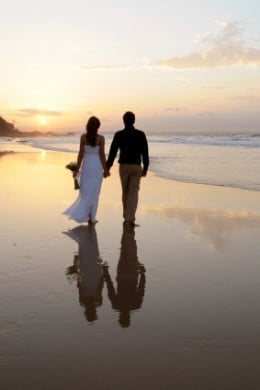 Romantic Beach Wedding Stroll By The Sea