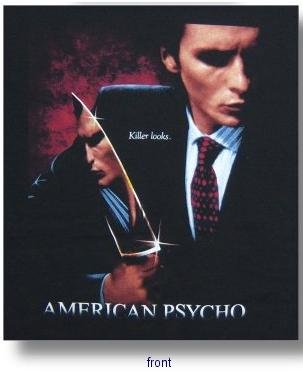 Example of an 'American Psycho' T-shirt that can usually be found on Amazon through various third party sellers.