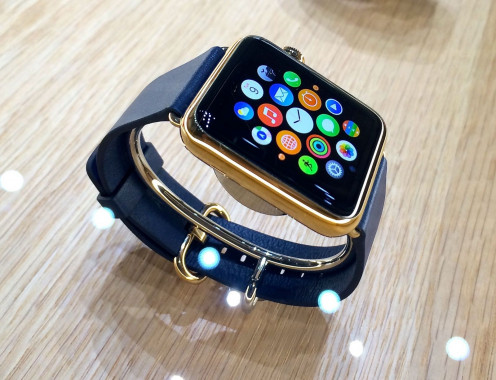 The Apple Watch can tell time, surf the web, read emails, send texts and also it can be used as a phone.