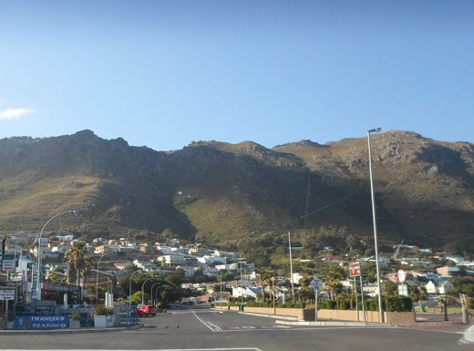 Strand, Cape Town, with the Hottentots Holland Mountains in the background
