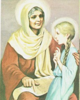 Saint Anne instructing her daughter Mary
