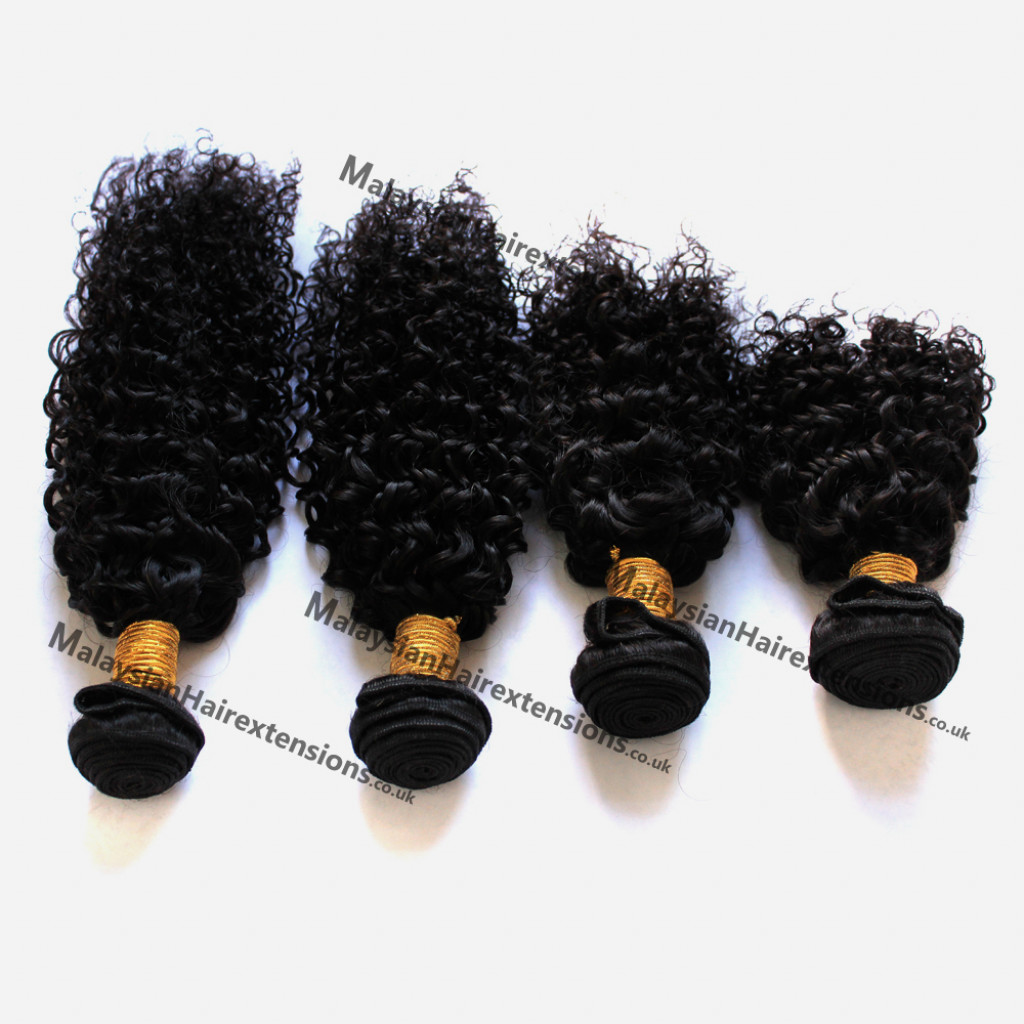 Human Hair Weaves Practical 3 Bundles Peruvian Afro Kinky Curly With Closure Pre Plucked With Baby Hair Bouncy Curl No Shedding No Tangle Non Remy Black 1b Refreshment 3/4 Bundles With Closure