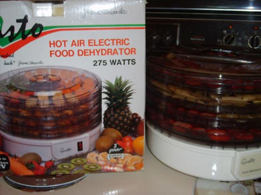 We harvest many fruits and vegetables on our hobby farm.  My husband often mentioned buying a food dehydrator but we never seemed to get around to purchasing one.  He appreciated finding this new, in box one which cost me $5 at our local church sale.