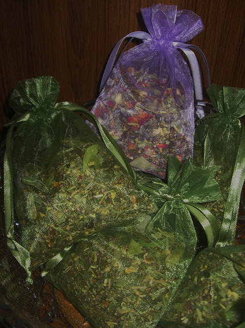 Herbal sachets are one way that herbs can be used in magic and witchcraft.