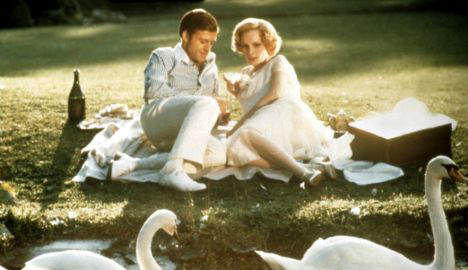 Robert Redford and Mia Farrow in the 1974 film version of 'The Great Gatsby'.