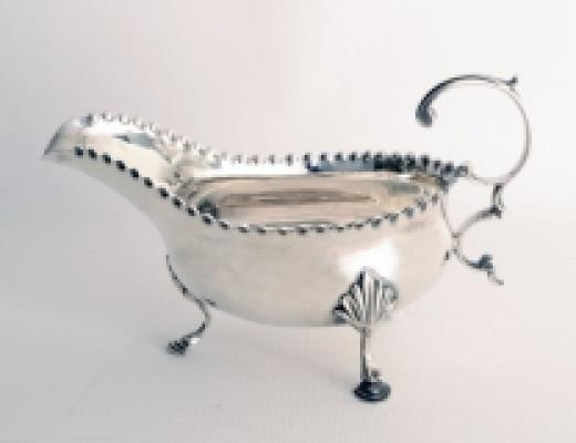 Antique Hester Bateman Sterling Silver Sauce Boat 1777