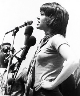 Hanoi Jane on the lecture circuit.