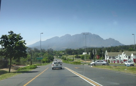 Wine route, Stellenbosch area, Cape Winelands, South Africa