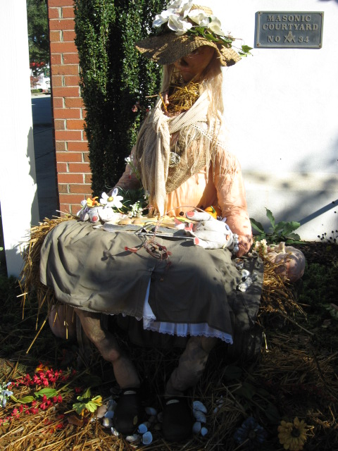 The Pendleton Garden Club entry in the 2014 Scarecrow Contest.