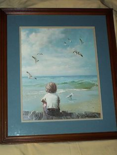 This is Sehring's painting. Mine has the child on a sand dune.