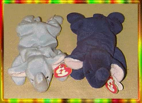 The Royal Blue Elephant was made for only one month and then it was discontinued and replaced with the light blue elephant Beanie Baby instead.