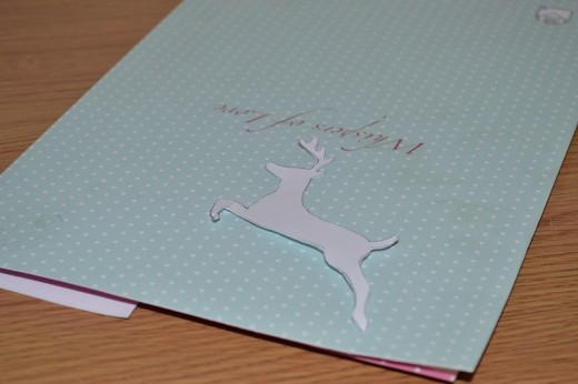 Up-cycle card into templates for paper crafts