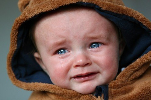 Crying is a way to show displease and unhappiness for a child