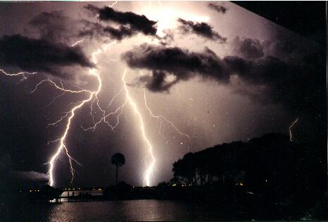 Florida is the lightning capital of the US. June, July, and August being the worst months for thunderstorms.