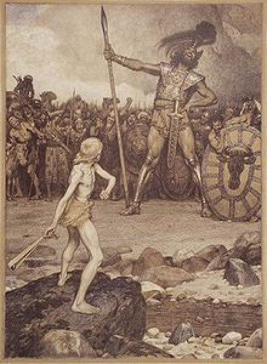 The historical account of a small shepherd boy killing a 13-foot tall Goliath are well documented in hundreds of ancient documents.