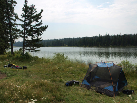 Free camping on the East side of Chimney Lake accessed via Dog Creek road outside Williams Lake, B.C.