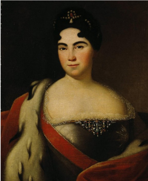 Catherine I: what she looked like when she was married in 1712
