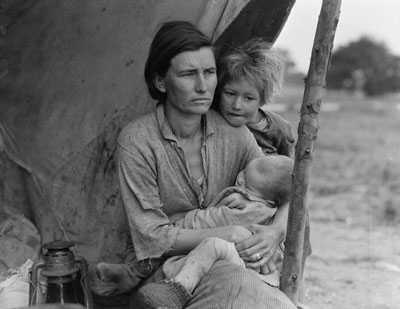 Family, Dust Bowl, United States. Photograph by Dorothea Lange