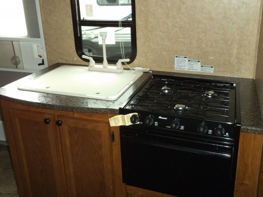 With a sink cover, you gain extra counter space while cooking. I'd get a cover to go over the stove burners and convert that to workable counter space too.