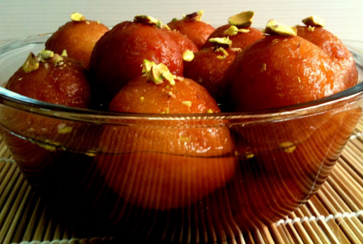 Gulab jamun (diabetes swimming in a bowl of concentrated sugar)