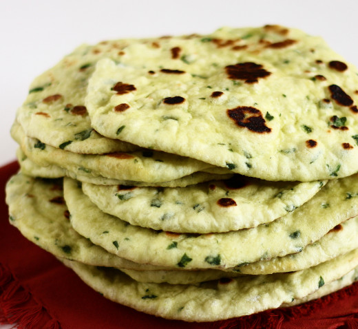 Spinach naan (also my FAV)
