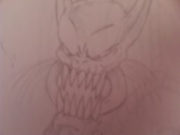 A Demon head drawing.....