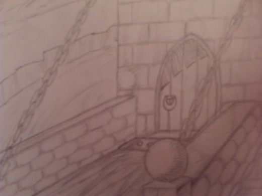 A Castle Tower gate, I used to go mad on drawing these at some point, but then I stopped.