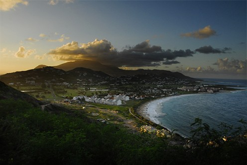 A view of Frigate Bay, near Basseterre, Saint Kitts, by WilliamTorrillo (Own work) [Public domain], via Wikimedia Commons