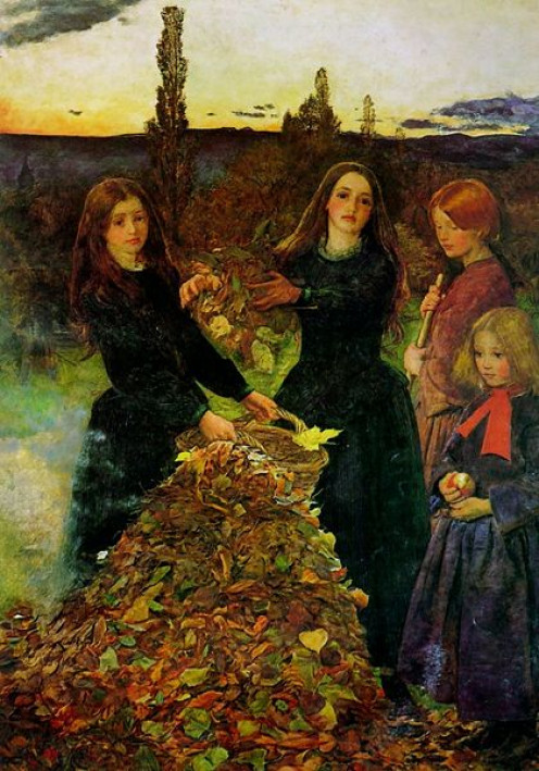 Autumn Leaves - 1856 - http://en.wikipedia.org/wiki/John_Everett_Millais