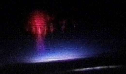 These are called red sprites. They form between the tops of clouds and the ionosphere.